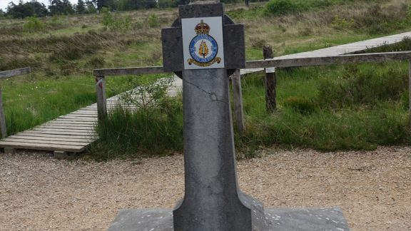 Monument to crew of RAF bomber shot down near Spa (Wallonia)