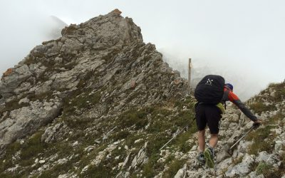 Always check what terrain to expect and whether its within your capability (Passo di Ciotto Mieu, Italian Alps)