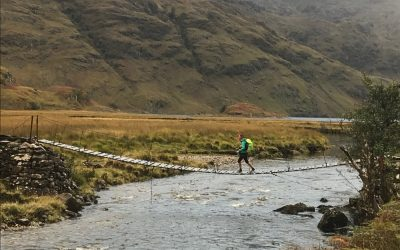 Crossing the River Carnach, Knoydart (Photo by Chris Councell)
