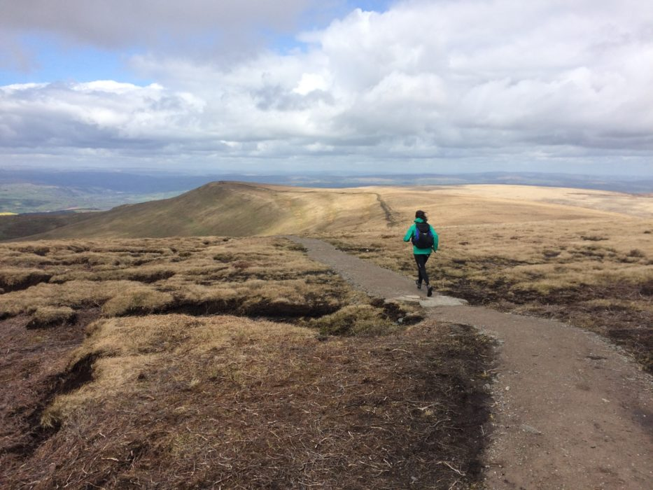 A great way to travel. Fastpacking in the Black Mountains of Wales