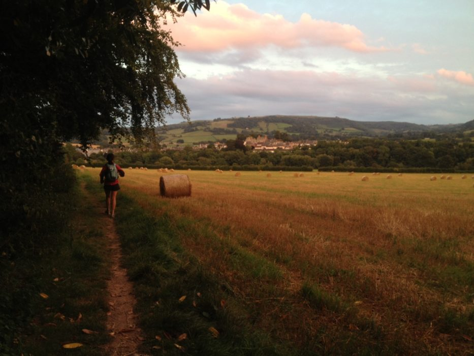 Approaching Hay-on-Wye at the end of a three-day run across Wales. Photo by Chris Councell.