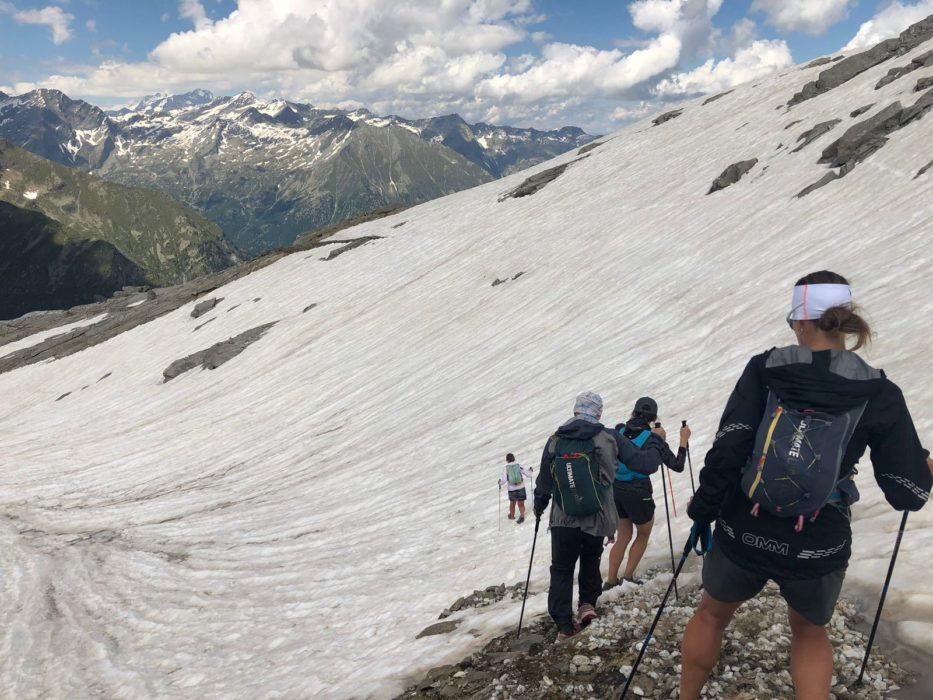 Snowy descent from Col del Turlo, Tour de Monte Rosa (Photo by Chris Councell)