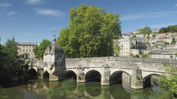 The medieval Town Bridge at Bradford-on-Avon