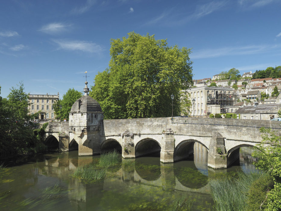 The medieval Town Bridge at Bradford-on-Avon