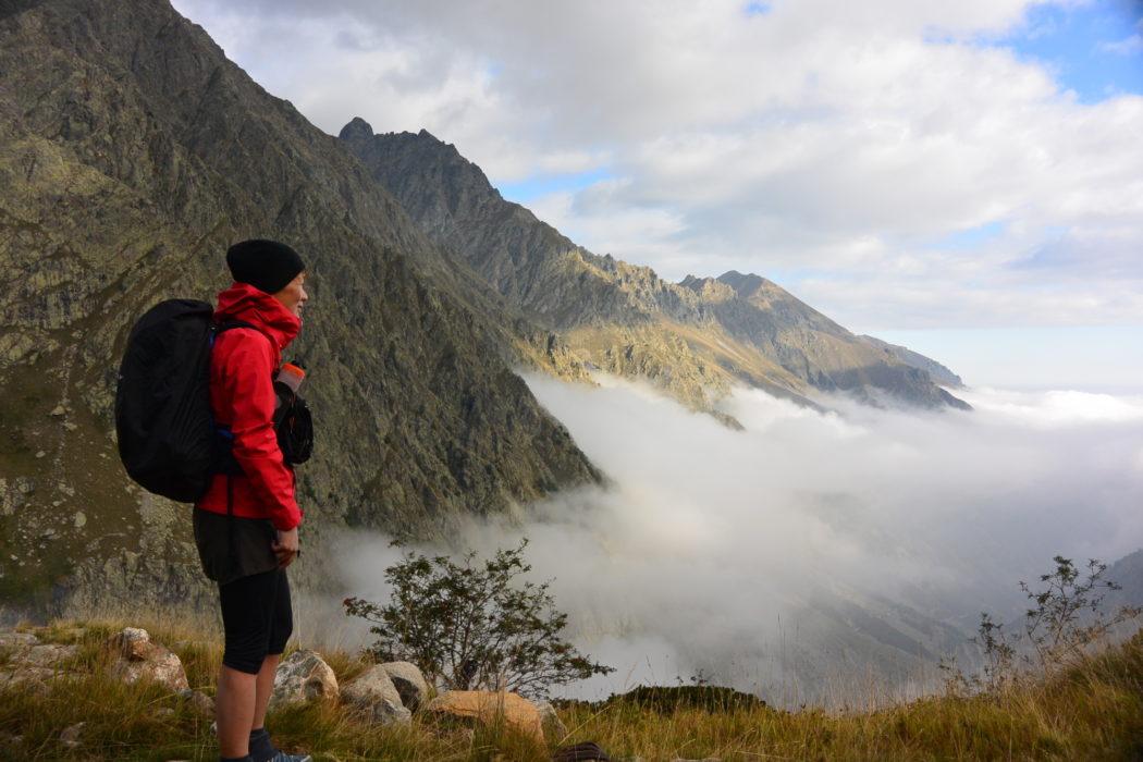 A cloud inversion in the Italian Alps on the Grand Traversata delle Alpi. Photo by Chris Councell.