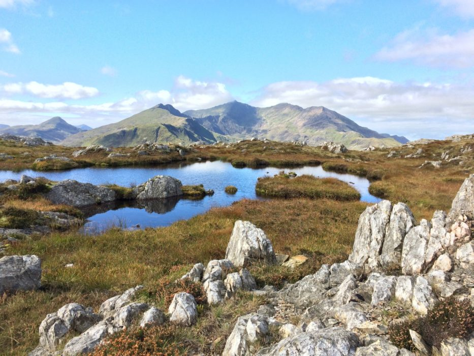 Breathtaking views fastpacking in Snowdonia, Wales.