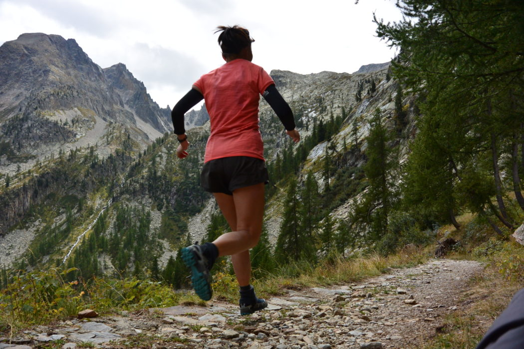 Lily running in the Italian Alps. Photo by Chris Councell.