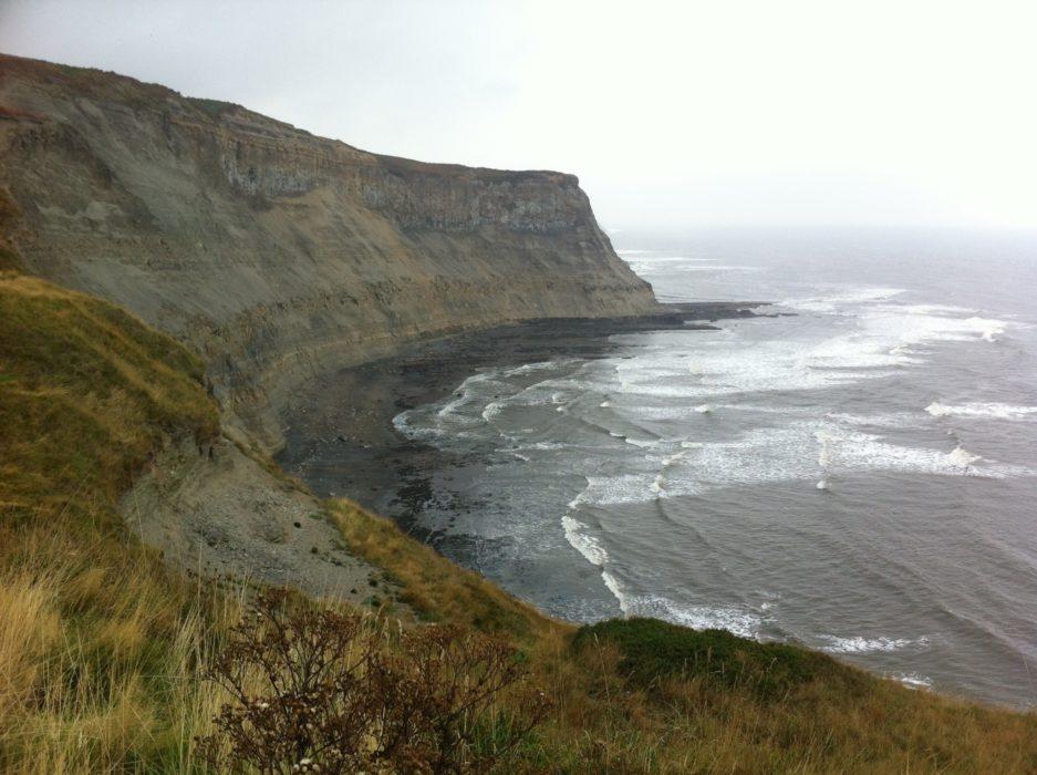 Fantastic cliff top running before the finish at Robin Hood Bay