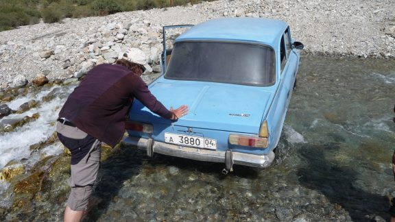In rural Tajikistan roads and vehicles don't always co-operate