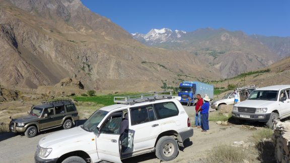 On the road on the Pamir Highway
