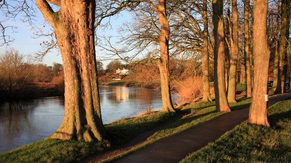 Pic2 The River Eden Flowing Through Parkland In Carlisle