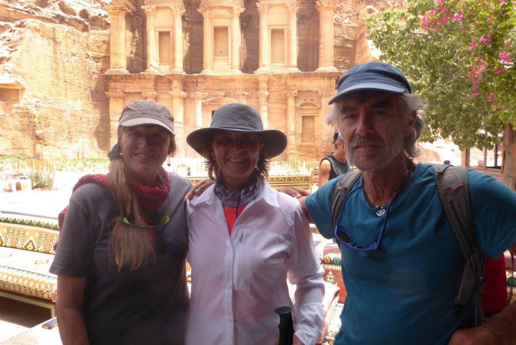 Jordan's Tourism Minister H E Lina Annab (centre), with Tony and Di, Petra 2016