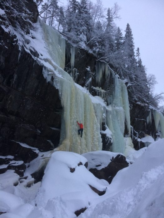 Krokan is a short walk from the main road and offers plentiful opportunities to ice climb as well as snowshoe around the area.