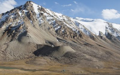 As a trekker you can pitch your tent almost anywhere in the Tajik mountains, like here at 4530 metres on the Langar Pass, Central Pamirs.