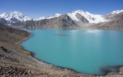 Zarojkul Lake may be the most beautiful mountain lake in Central Asia. No Photoshop, these are its true colours!