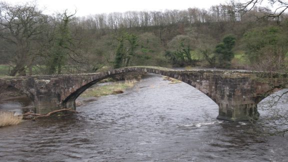Cromwell's Bridge over the River Hodder