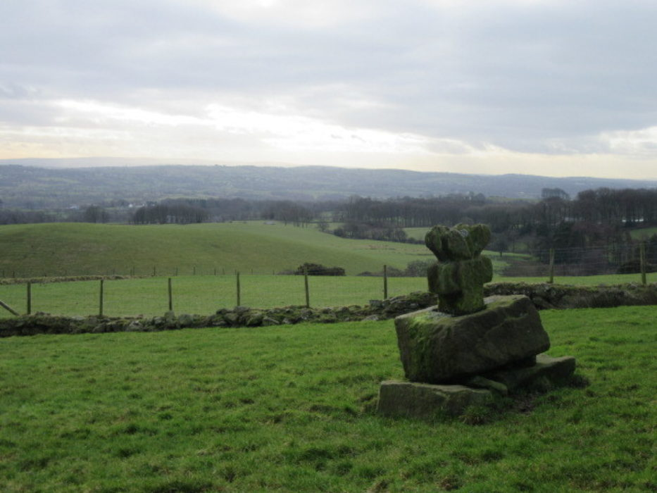 Ancient cross dedicated to St Paulinus above Stonyhurst