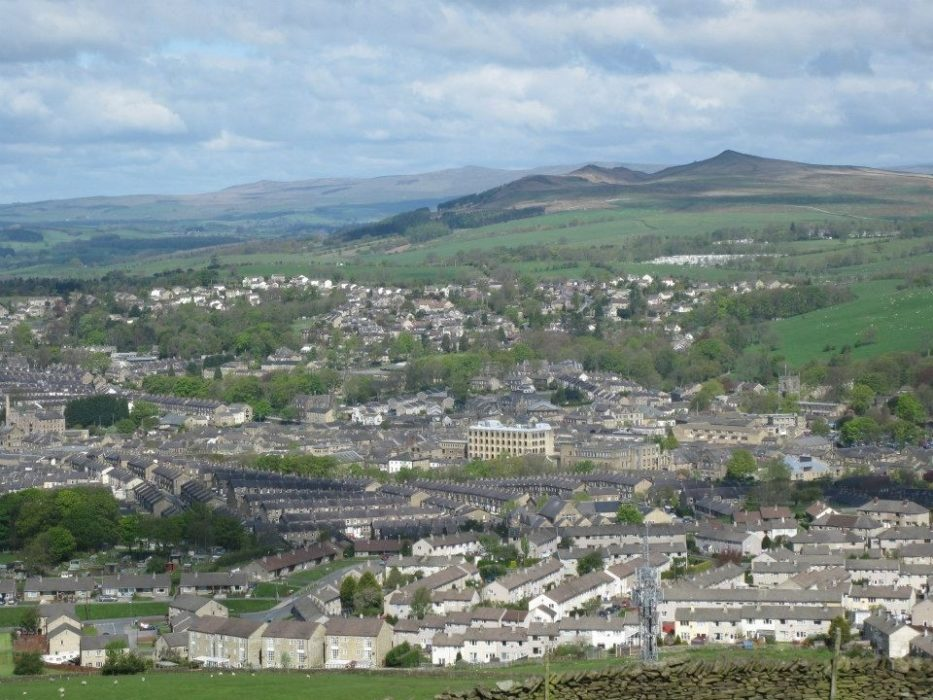 Skipton from Skipton Moor - Cromwell's army camped in the town