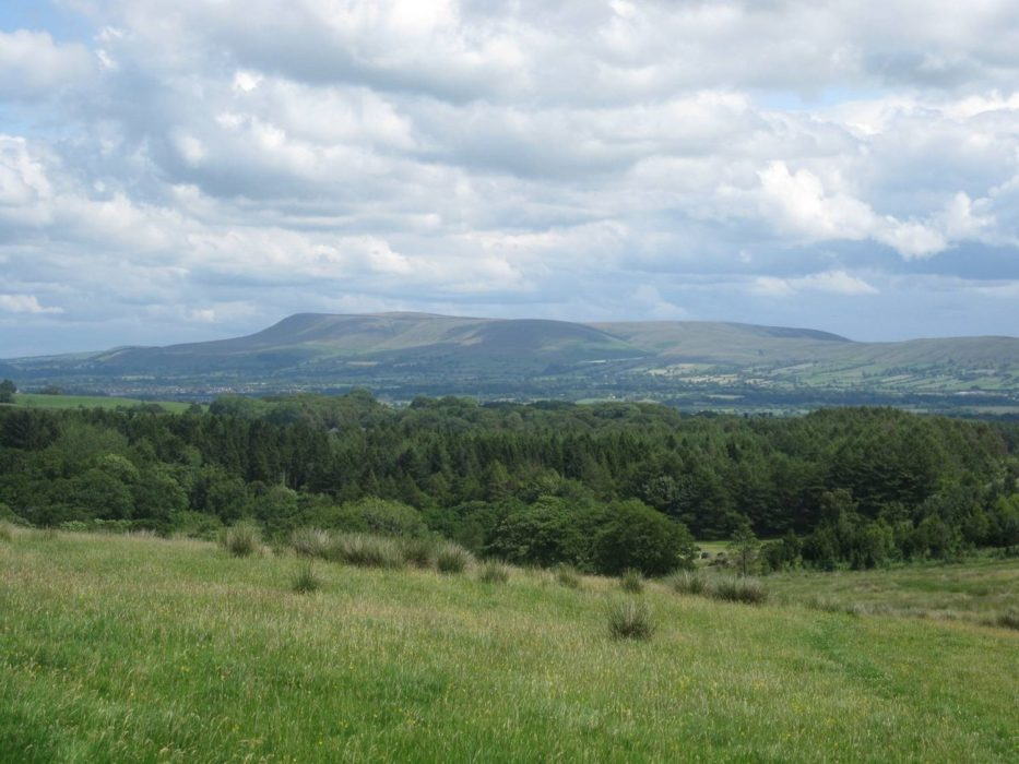 The Ribble Valley and Pendle from Longridge Fell