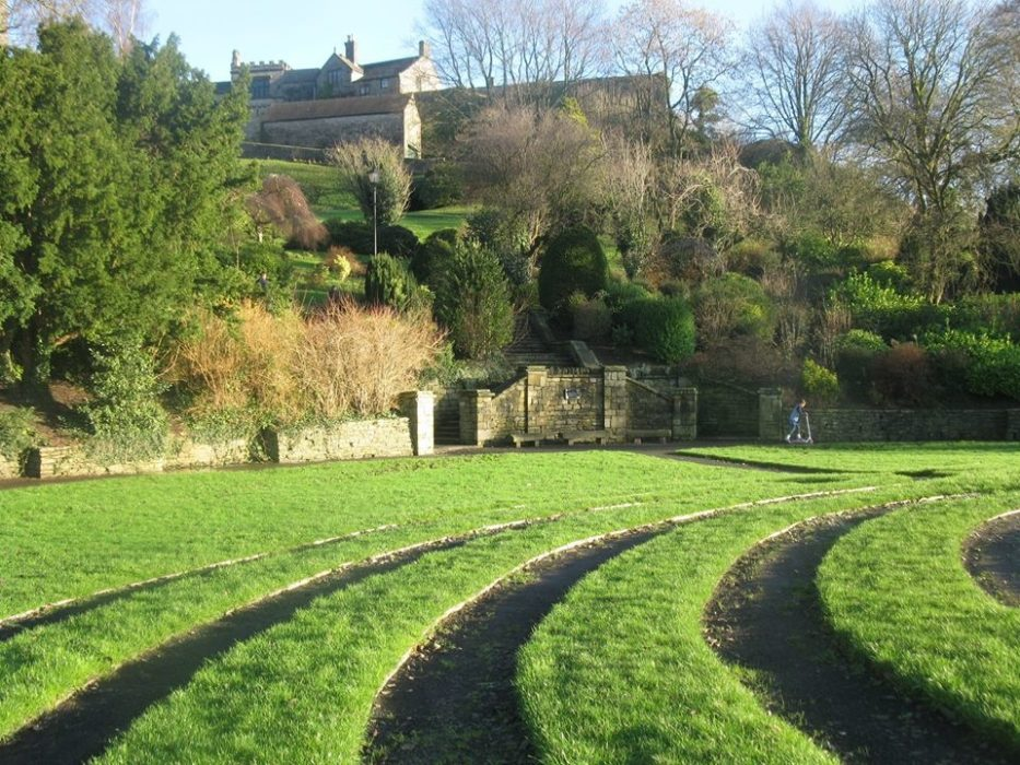 The grounds of Clitheroe Castle