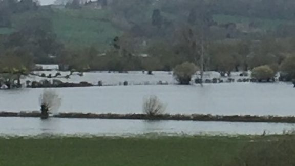 The flooded Severn Valley. Oops no path!