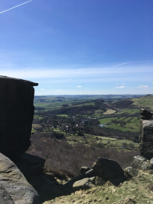 Curbar Edge. Spectacular weather and Peak District scenery on the first day's walk