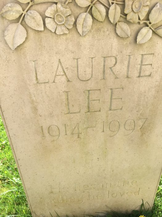 Laurie Lee's resting place: his book As I Walked Out One Midsummer Morning was a great inspiration for my walk