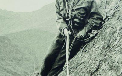 Brian Evans on Gimmer Crag, Langdale, 1962