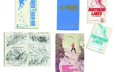 Some of the old Cicerone guides with different logos and the price in shillings