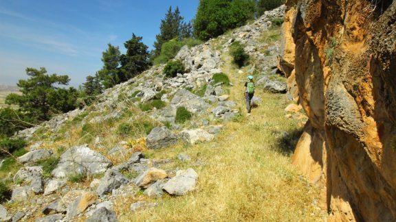 The rock-scattered slope
