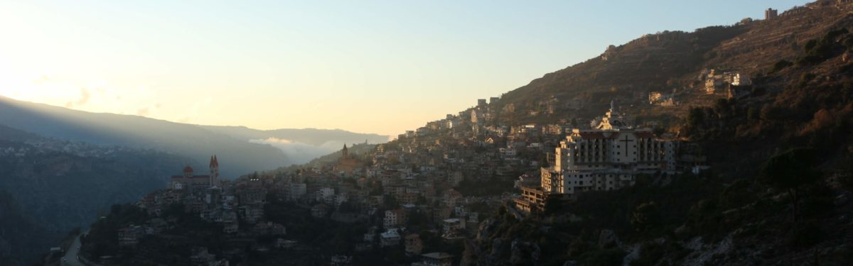Bsharri catching the last of the sun's rays