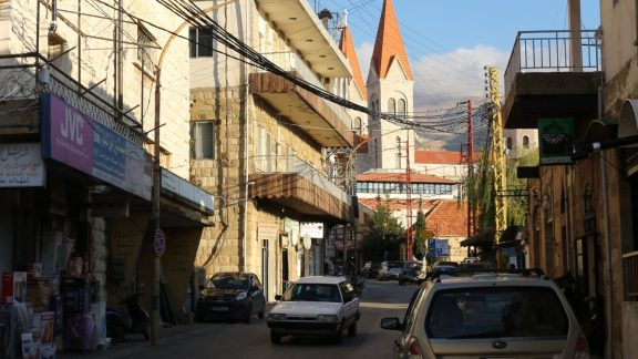 Large churches dominate the centre of Maronite Christian communities