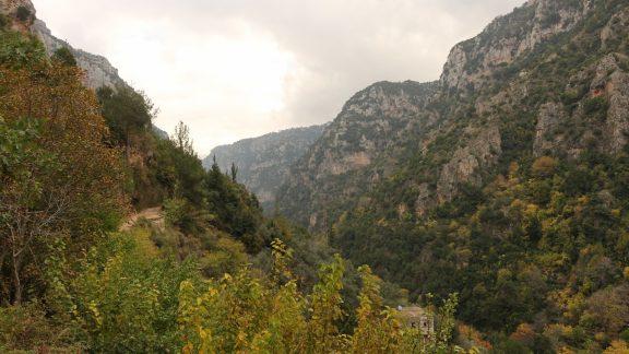 Midway along the Qadisha Valley