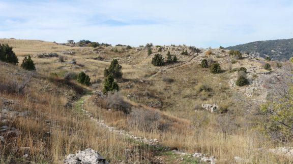 Typical limestone terrain between Hasroun and Tannourine