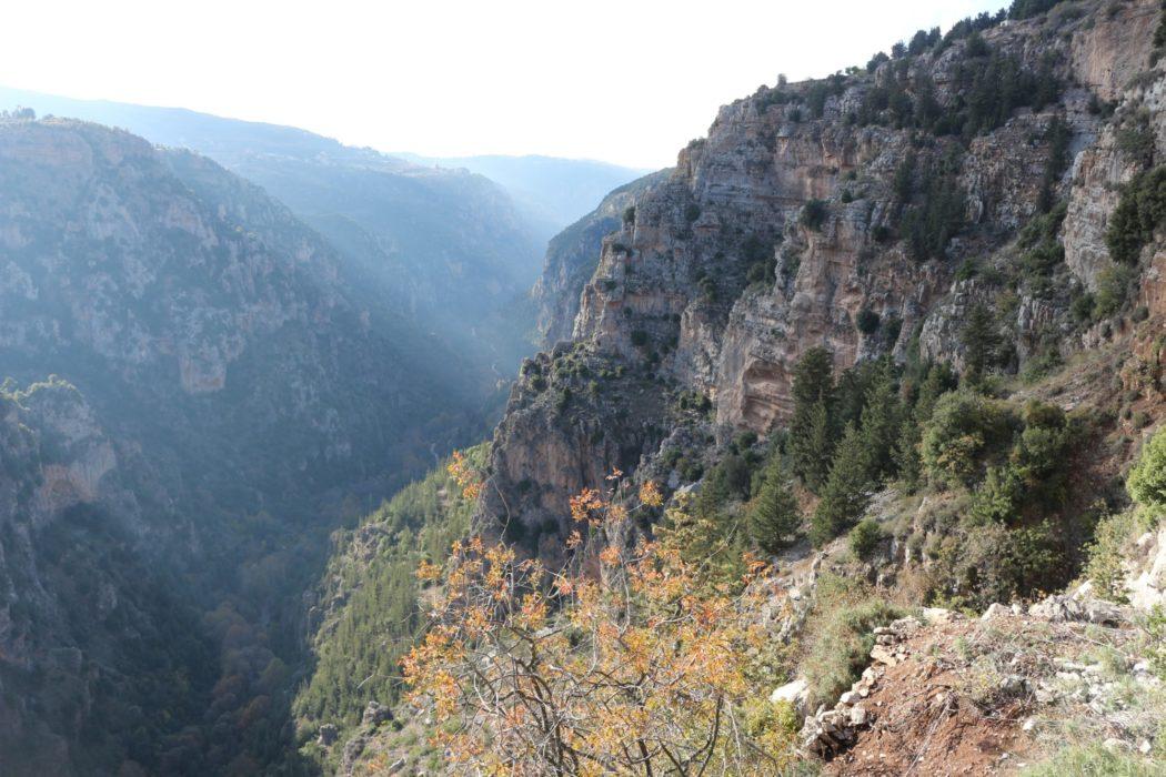 Climbing out of the Qadisha Valley