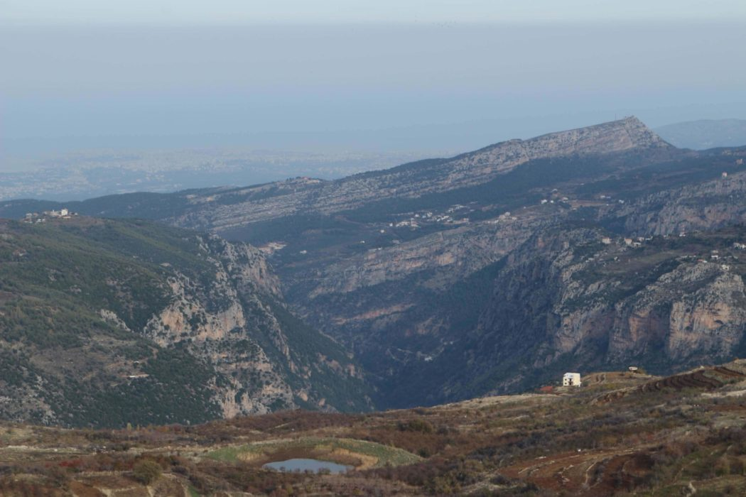 A last view into the Qadisha Valley en route to Tannourine