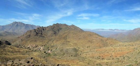 The eastern Ameln Valley showing Adrar Idekel and Ardrar Mqorn