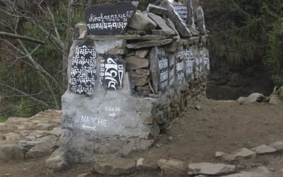 A Mani Wall At The Trail Junction Above Surke