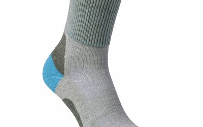 Summer walking sock. Coolmax vented socks with padded support