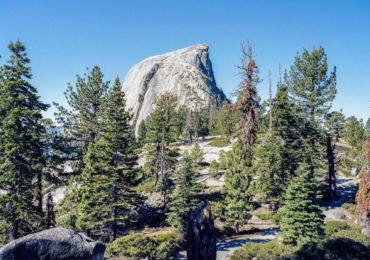 The peak viewed from the East, on Half Dome Trail