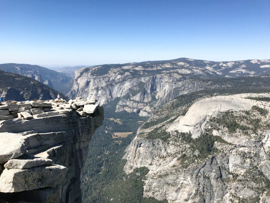 The 'Visor' on Half Dome's summit