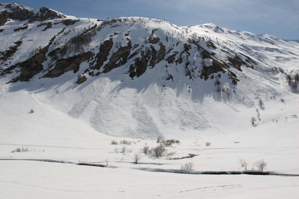 Avalanche debris, French Mercantour