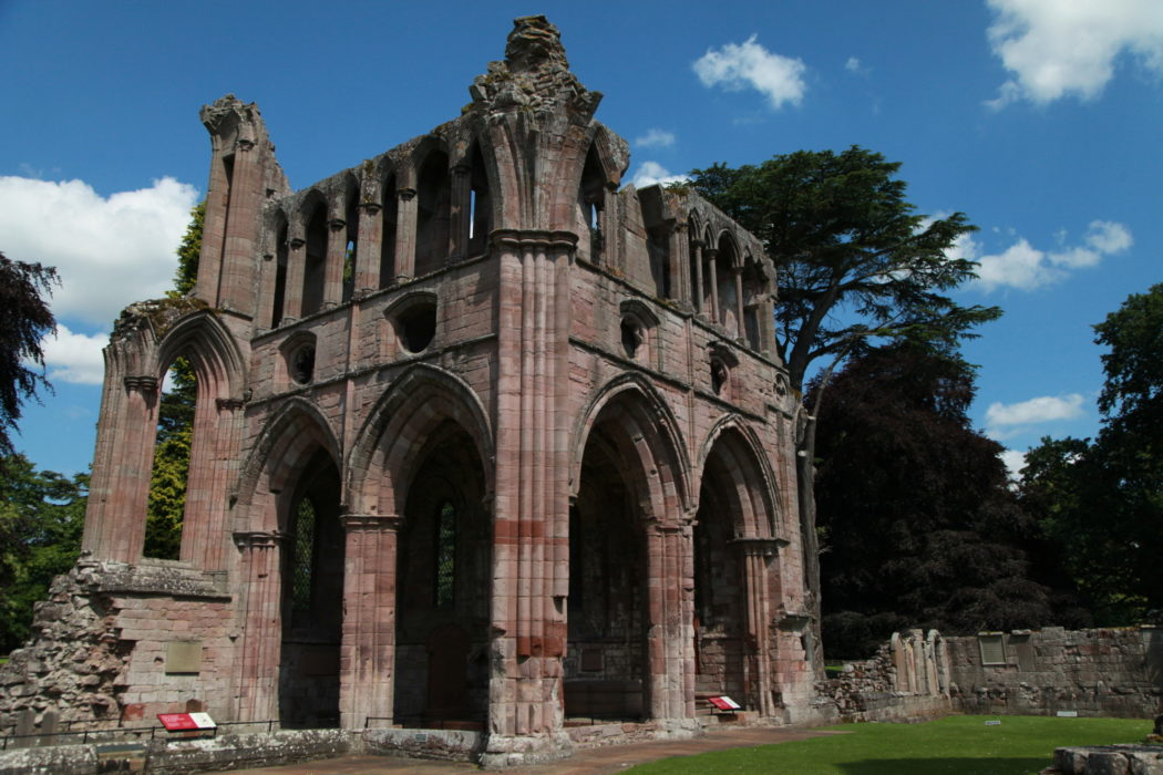 Dryburgh Abbey sits on the site of an earlier Celtic monastery