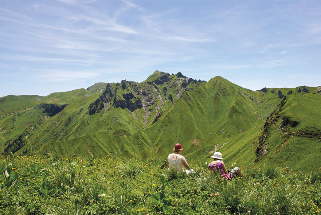 Great picnic views: Sancy ridge