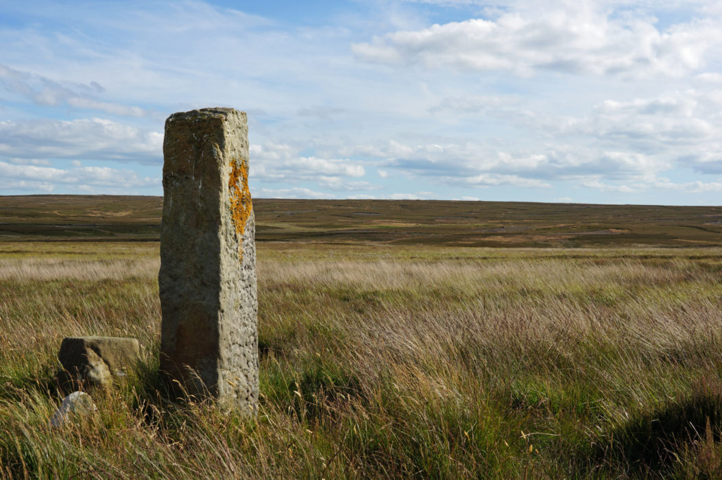 Many old moorland paths and tracks are marked by simple stone pillars