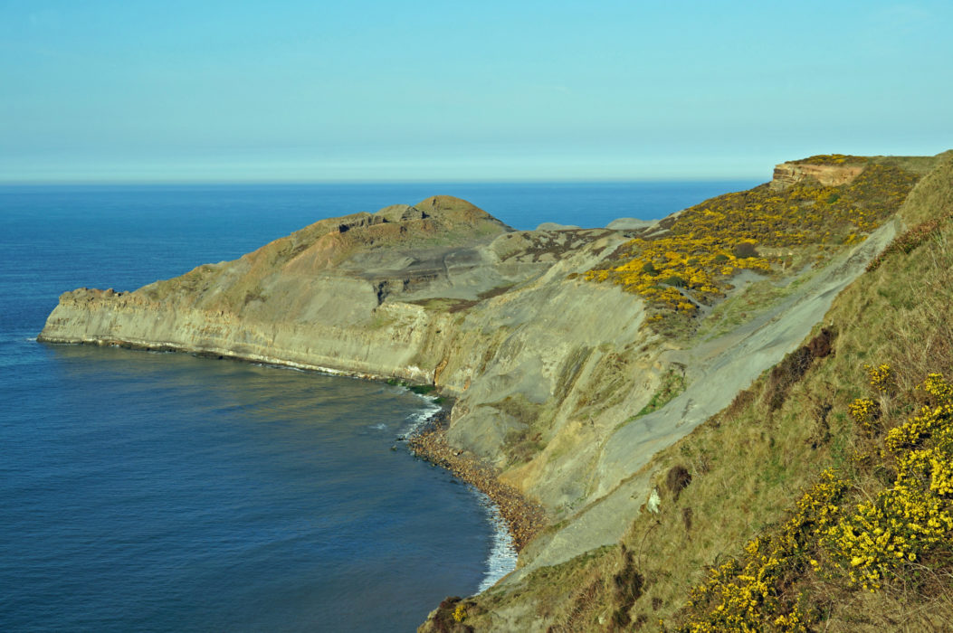 The wonderfully rugged cliff coastline is designated as Heritage Coast