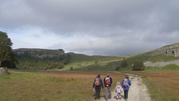 Walkers on (unnamed) trail