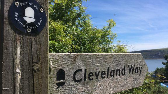 Cleveland Way & English Coast Path National Trail signpost