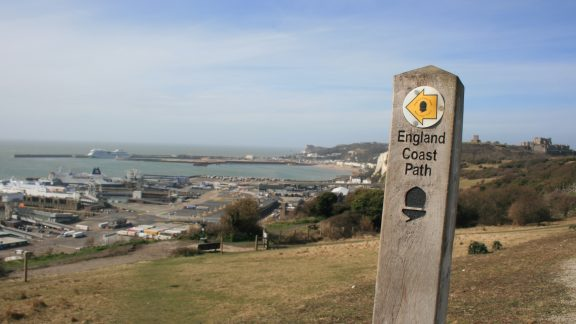 England Coast Path National Trail at Dover