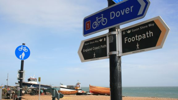 England Coast Path National Trail at Deal